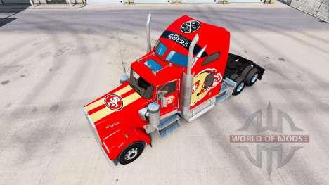 La peau 49ers de San Francisco sur les tracteurs pour American Truck Simulator