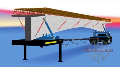 Die trailer-Auflösung mit einer Ladung von Beton für American Truck Simulator