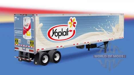 Une collection de peaux pour les remorques v1.2 pour American Truck Simulator