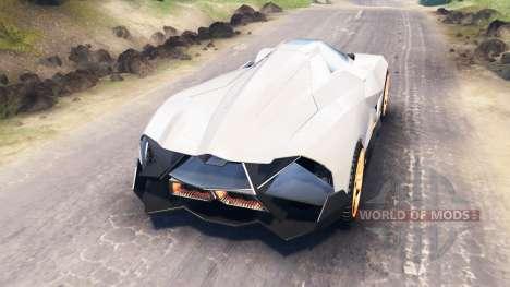 Lamborghini Egoista für Spin Tires