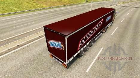 La peau Snickers sur la remorque pour Euro Truck Simulator 2