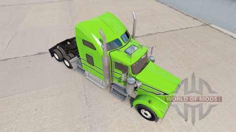 La peau Noire à rayures blanches sur le camion K pour American Truck Simulator