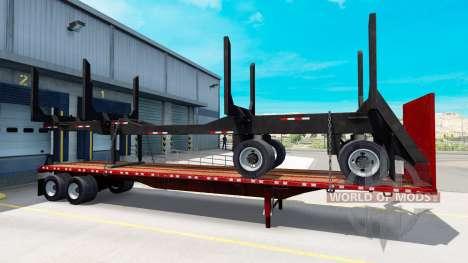 Eine Sammlung neuer Trailer mit Ladung für American Truck Simulator