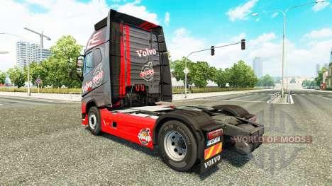 Grau Rot skin für Volvo-LKW für Euro Truck Simulator 2