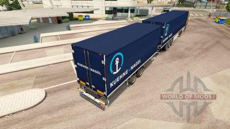 Semi-Remorque Krone Méga-Camions [Kuehne Nagel] pour Euro Truck Simulator 2