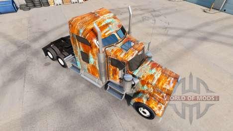 Haut Rust auf der LKW-Kenworth W900 für American Truck Simulator