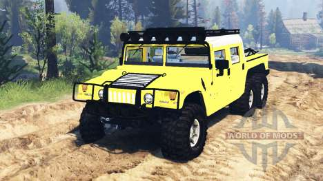 Hummer H1 6x6 Raptor für Spin Tires