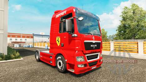 Haut-Ferrari-MANN auf einem Traktor für Euro Truck Simulator 2