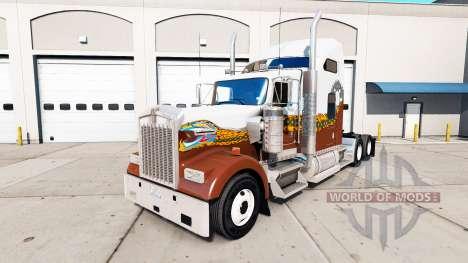La peau Hatd le Camion de camion Kenworth W900 pour American Truck Simulator