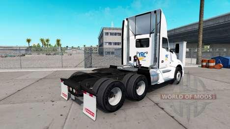 Haut YRC Fracht auf Traktor Kenworth für American Truck Simulator