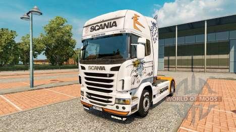 De la peau pour Scania R2009 camion Scania pour Euro Truck Simulator 2