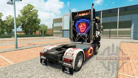 La peau Scania Noir pour tracteur Scania pour Euro Truck Simulator 2