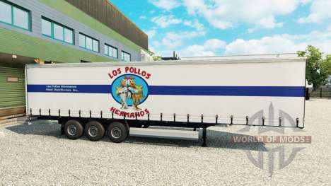 La peau Los Pollos Hermanos sur la remorque pour Euro Truck Simulator 2