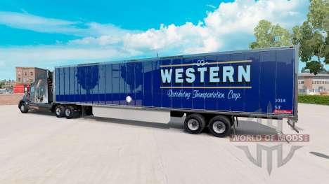 La peau de l'Ouest sur la remorque pour American Truck Simulator