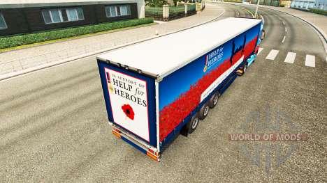Hilfe Für Helden-skin für den Volvo truck für Euro Truck Simulator 2