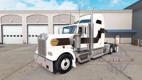 Haut Schwarz und Gold auf den truck Kenworth W90 für American Truck Simulator