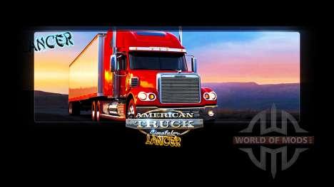 Les écrans de chargement de Lancer pour American Truck Simulator