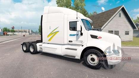 Swift skin für den truck Peterbilt für American Truck Simulator