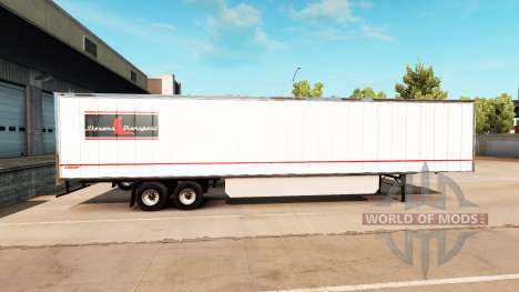 Haut Stevens-Transport auf semi-trailer für American Truck Simulator