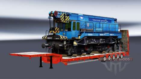 Semi-Trailer mit zeleznodoroznyj die Linie v1.3 für Euro Truck Simulator 2