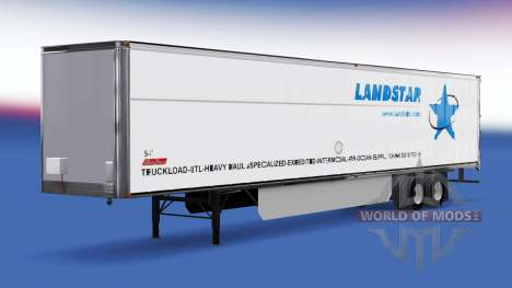 La peau LandStar sur la remorque pour American Truck Simulator