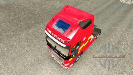 Haut-Fire & Rescue bei Volvo trucks für Euro Truck Simulator 2