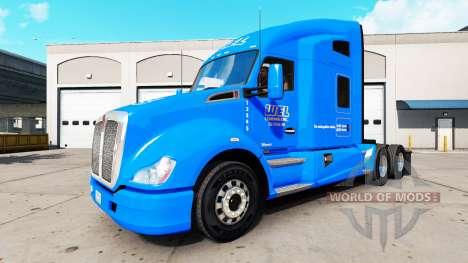 La peau WEL sur un tracteur Kenworth pour American Truck Simulator