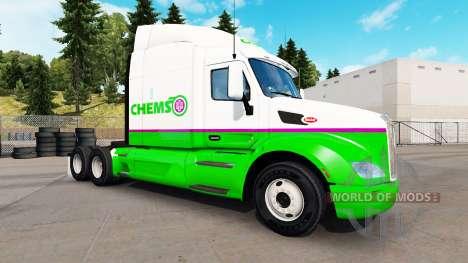 Chemso skin für den truck Peterbilt für American Truck Simulator