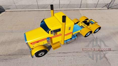 Gelb Benutzerdefinierte skin für den truck Peter für American Truck Simulator