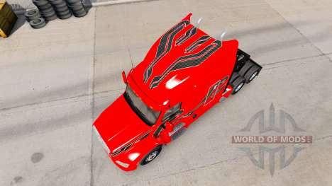 La peau de Carbone Insertions sur le tracteur Pe pour American Truck Simulator