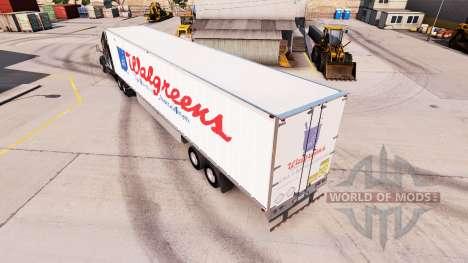 La peau WalGreens sur la remorque pour American Truck Simulator