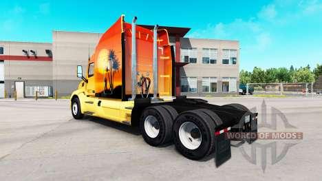 Le Soleil sur la peau sur le tracteur Peterbilt pour American Truck Simulator