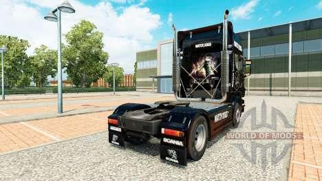 Watch Dogs-skin für den Scania truck für Euro Truck Simulator 2