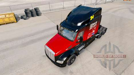 La peau Hendrick v2.0 tracteur Peterbilt pour American Truck Simulator
