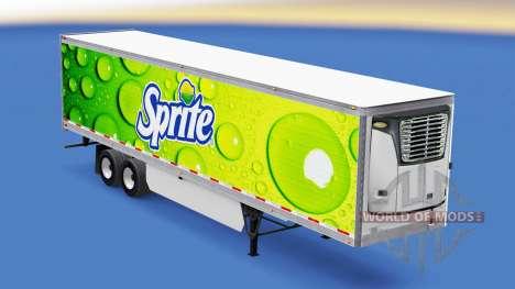 Haut-Sprite auf kühl Sattelzug für American Truck Simulator