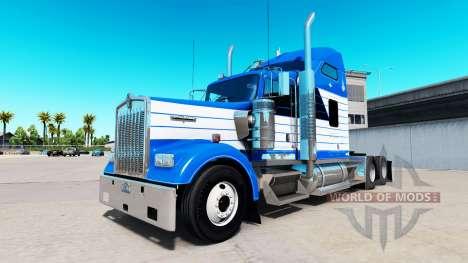 De la peau Blanchir de Transport sur camion Kenw pour American Truck Simulator