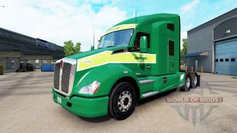 La peau sur Freightlines tracteur Kenworth pour American Truck Simulator