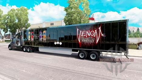 La peau Venin sur la remorque pour American Truck Simulator