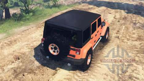 Jeep Wrangler Unlimited für Spin Tires