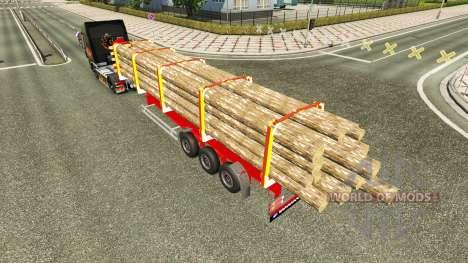 Camion Semi-remorque pour Euro Truck Simulator 2