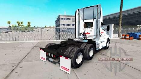 La peau sur Ryder camion Kenworth pour American Truck Simulator