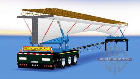 La remorque-dissolution avec une cargaison de po pour American Truck Simulator