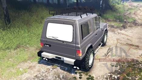 Mitsubishi Pajero I v3.0 für Spin Tires