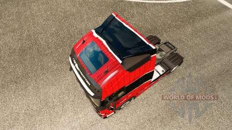 La peau Piel Rojo Negro chez Volvo trucks pour Euro Truck Simulator 2