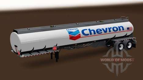 La peau de Chevron de carburant semi-remorque pour American Truck Simulator