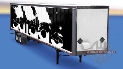De tous les métaux semi-Adidas pour American Truck Simulator