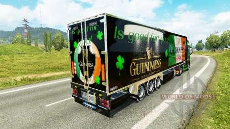 Guinness-skin für den Volvo truck für Euro Truck Simulator 2