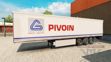 La peau Pivoin sur la remorque pour Euro Truck Simulator 2