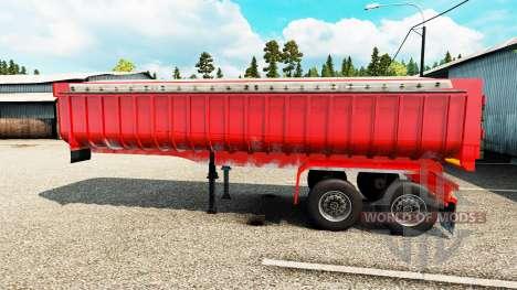 Semi-remorque camion benne pour Euro Truck Simulator 2