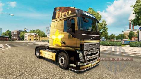 Oro de la peau pour Volvo camion pour Euro Truck Simulator 2